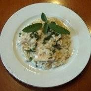 Risotto con Filetto di pesce Persico